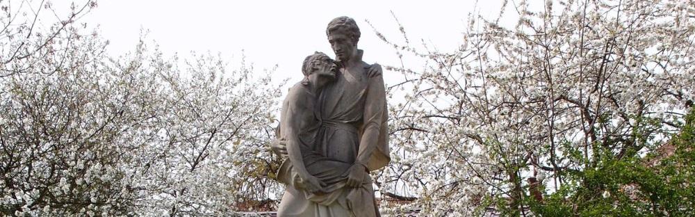 Sv. Alois na farní zahradě